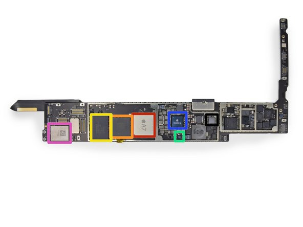 Image 1/3: Apple APL5698 A7 Processor—a slightly different version from the APL0698 in the [guide|17383|iPhone 5s|stepid=52346]