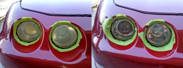 Acura Integra headlights restoration