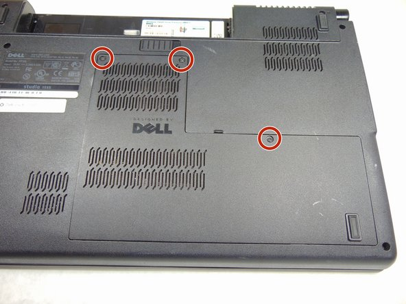 Image 2/3: The three 5mm screws will stay in place on the back panel.