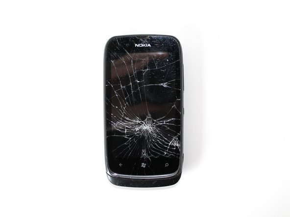The first thing you'll need is a Nokia Lumia 610 with a broken front glass