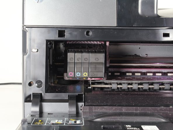 Locate the printer head on the left side of the printer.