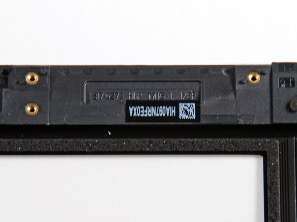 Image 1/2: The part number on the display frame reads: