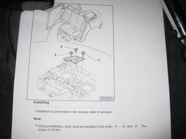 Image 1/2: VW states that the order of installation of these bolts is important.  See the picture of the service manual for the order.