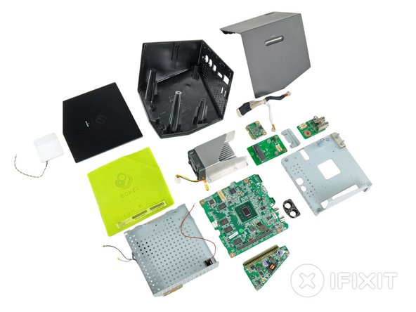 Image 1/2: The Boxee has a separate power board that can be replaced independently from the motherboard, should it ever fail.