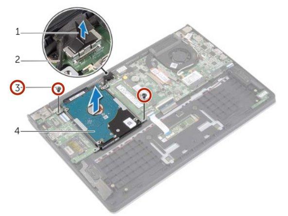 Dell Inspiron 11-3138 Reemplazo del Disco Duro