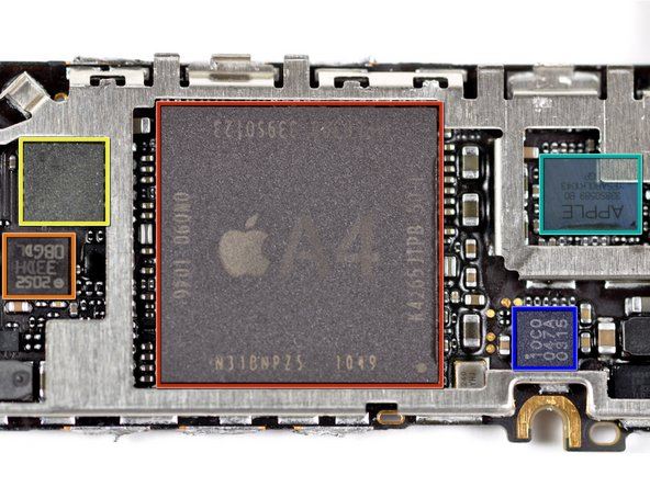 Here are the brains of the iPhone.