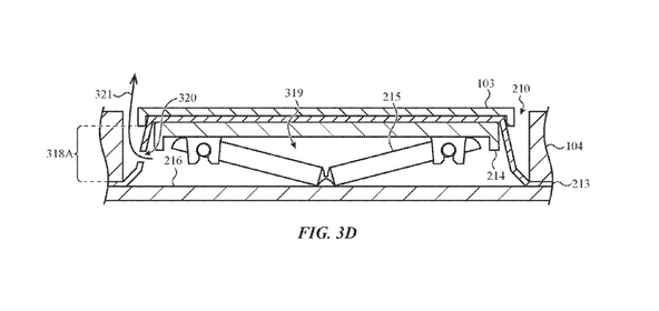 Apple patent of the silicone membrane around the butterfly keyboard
