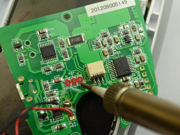Soldering can melt key components and cause harm to both the user and the device. Read soldering guide before attemptingDesolder the LED lights.