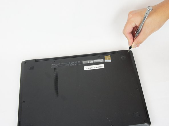 Using the JIS #0 Screwdriver, unscrew the ten 10 mm screws that hold the back casing in place
