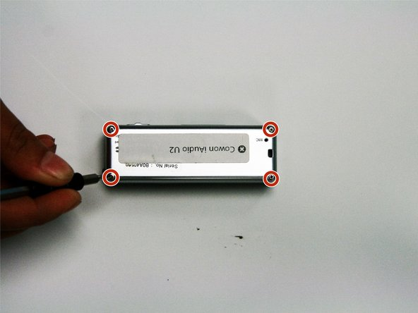 Image 1/1: Flip the device on its front, to display the back of the device.
