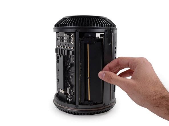 Good news, everyone! The RAM in the Mac Pro Late 2013 is easily accessible and replaceable.