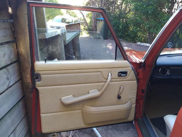 1976 Mercedes-Benz 230.6 Window Regulator Replacement