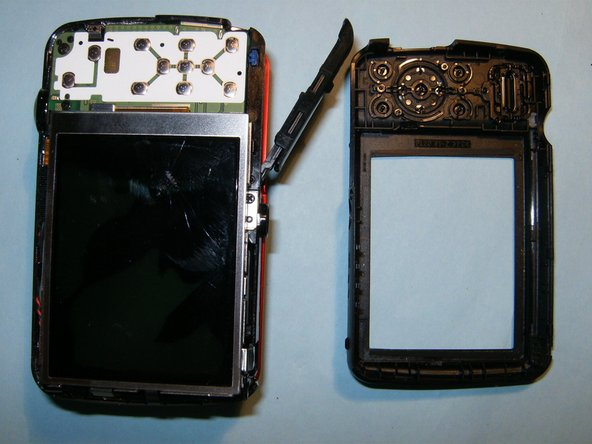 Once the back of the case is removed, the LCD becomes immediately visible.