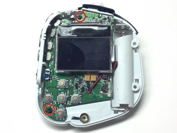 Once you have removed the front housing and exposed the internal board and screen locate and Remove the Two (2) 4mm PH00 screws on the board.