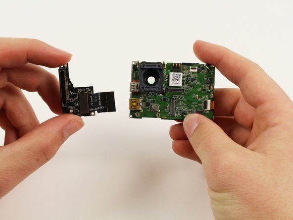 Image 2/2: The microSD and Accessory Board is now ready for removal.