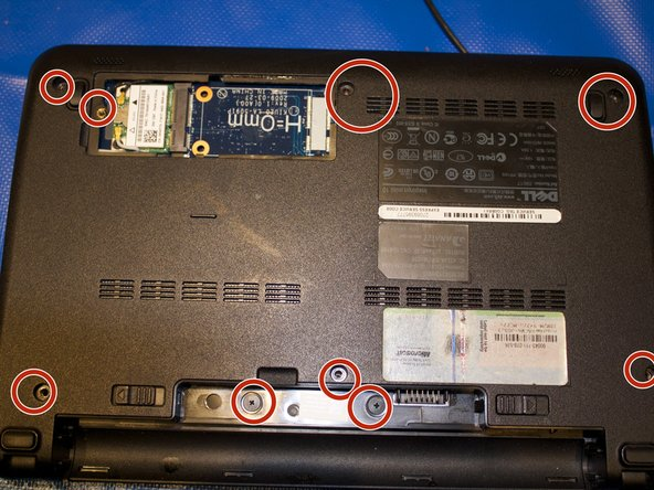 Image 2/3: Put the screws back in laptop