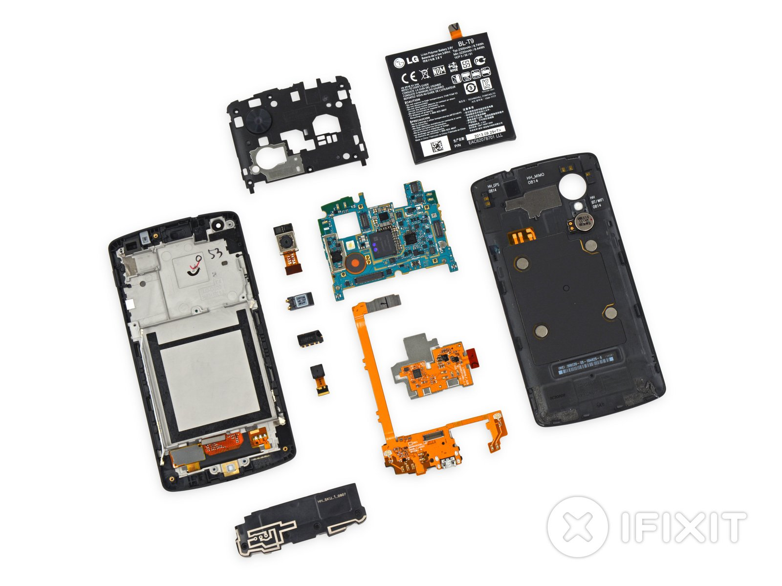 Nexus 5 teardown ifixit ccuart Gallery