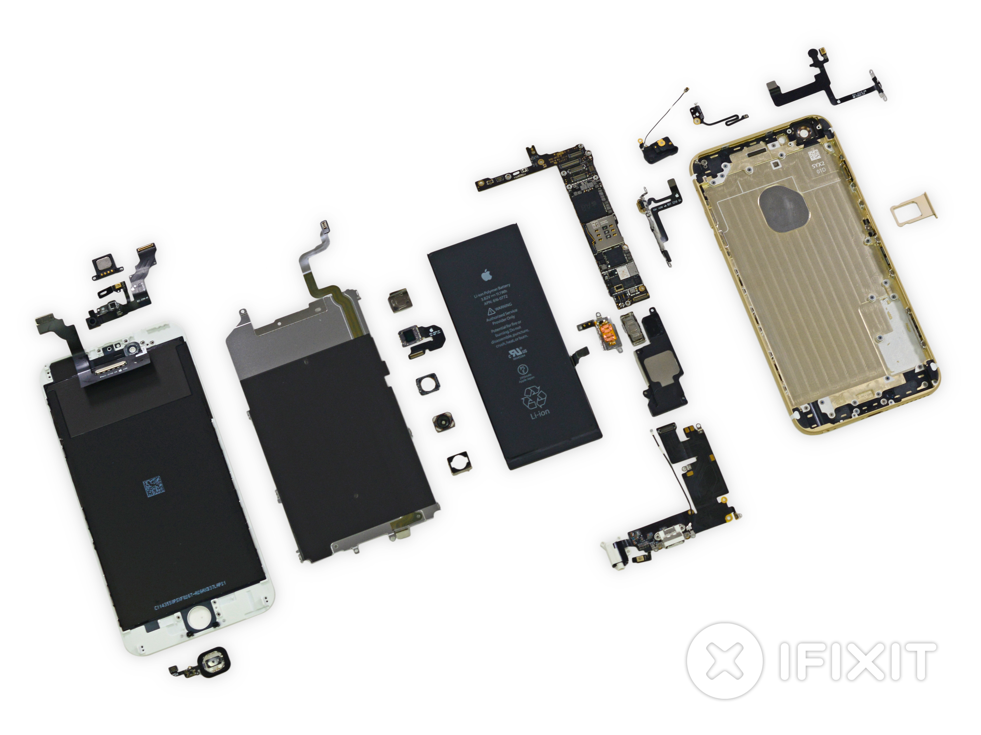 Iphone 6 Plus Teardown Ifixit The Circuit Diagram Of Emitter Side Touch Screen System