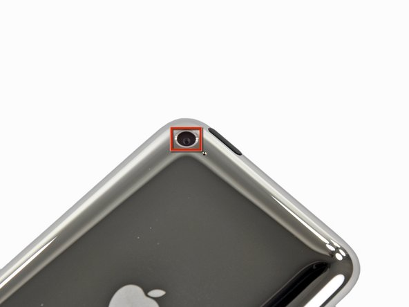 Image 2/2: The front-facing camera is just like that of the iPhone 4, with support for VGA quality photos and video.