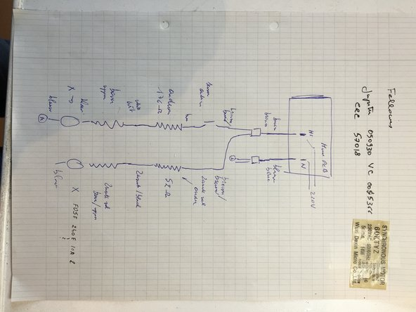 This  diagram helps detecting the faulty resistor.