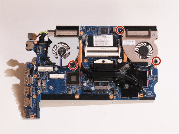 Remove the three 4.5mm Phillips screws on the fan assembly.