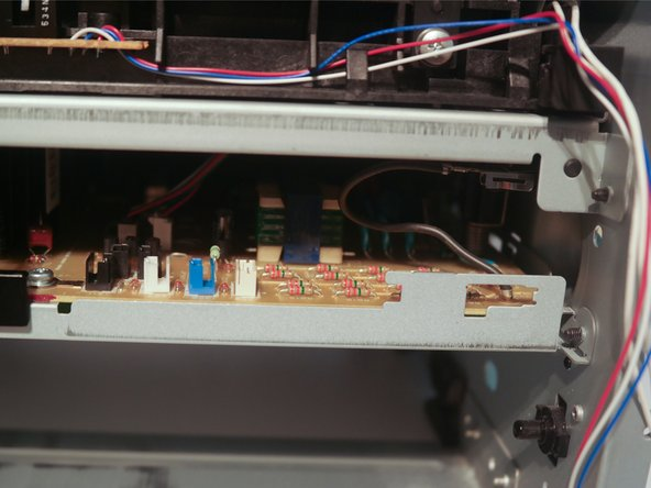 Remove the cable guide from the chassis.