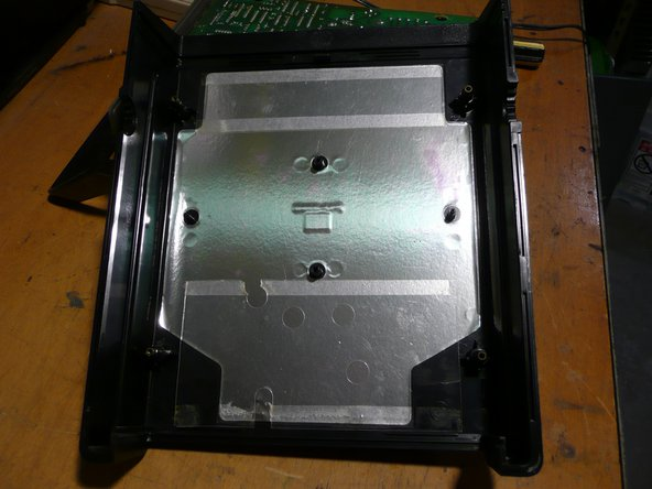 Image 1/2: Inside the bottom cover of the function generator, more shielding.