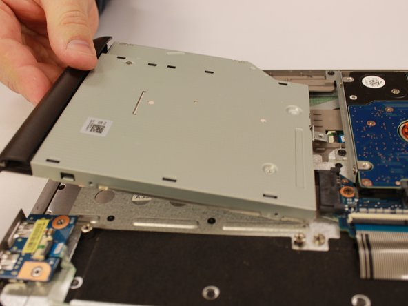 Remove the DVD drive by pulling it sideways out of the laptop
