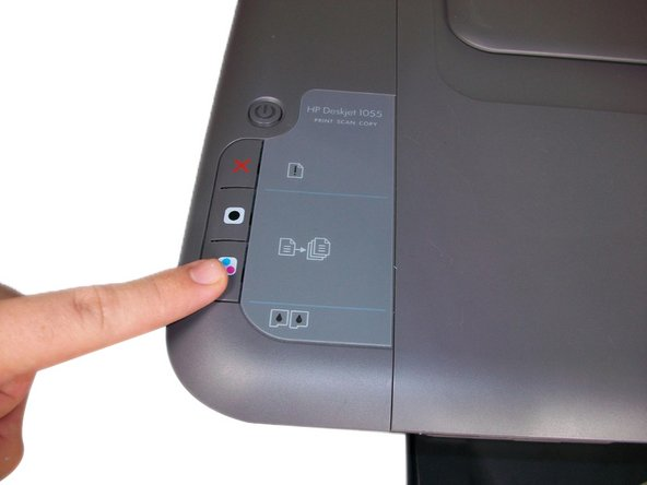 Press the color copy button to begin scan.