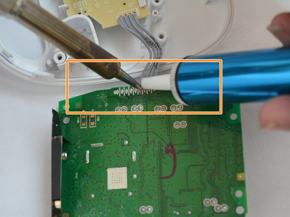 De-solder the connections from the motherboard using a soldering iron and a solder sucker.