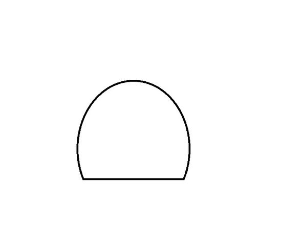 With the Eraser tool, delete the bottom of the ellipse.