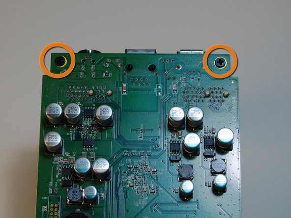 Remove two more screws under the circuit.