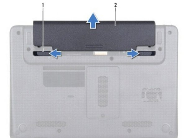 Slide the battery into the battery bay, until it clicks into place.