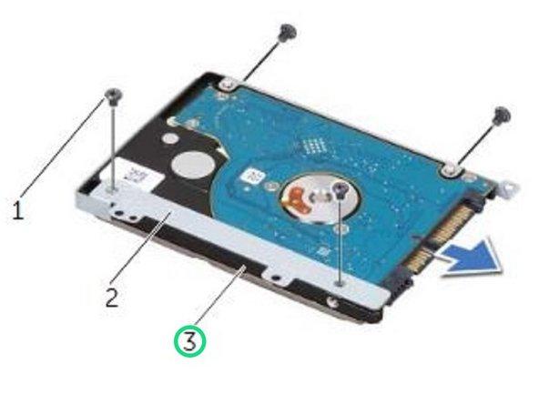Slide the hard-drive off the hard-drive bracket.