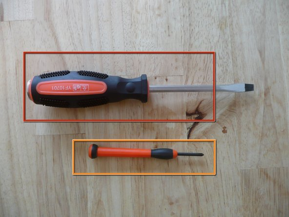 You will need two screwdrivers: