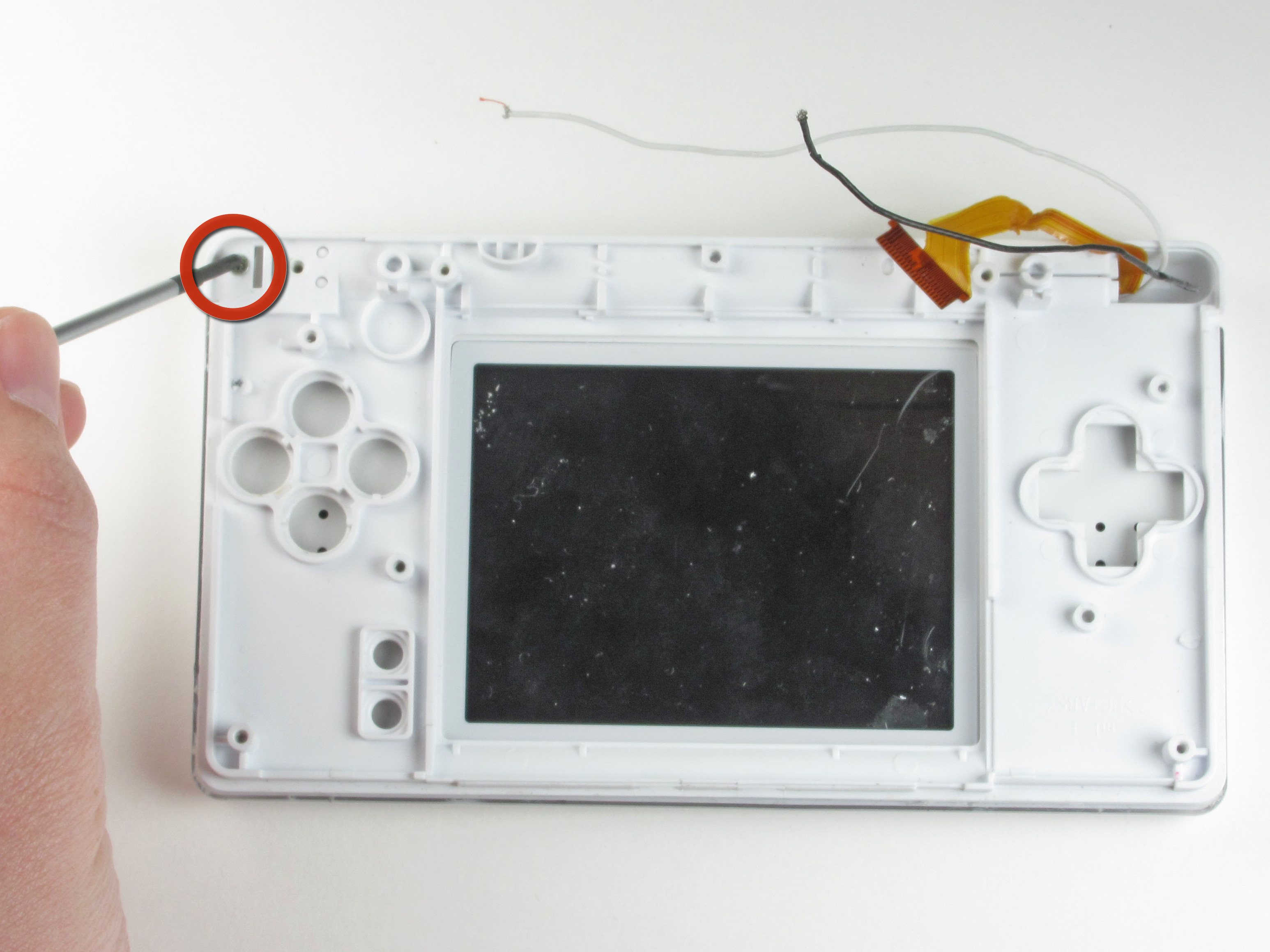 nintendo ds lite top screen replacement ifixit repair guide. Black Bedroom Furniture Sets. Home Design Ideas