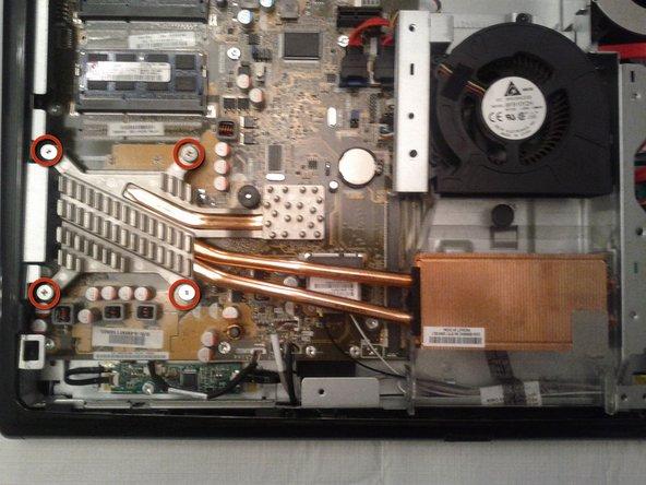 Image 1/1: Remove the CPU heatsink screws.