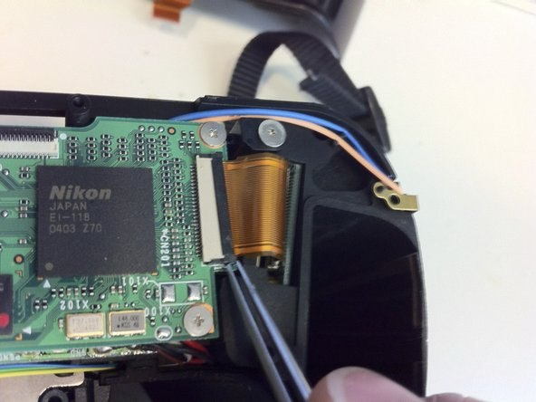 Use Tweezers to open the locking on the ribbon cable socket.