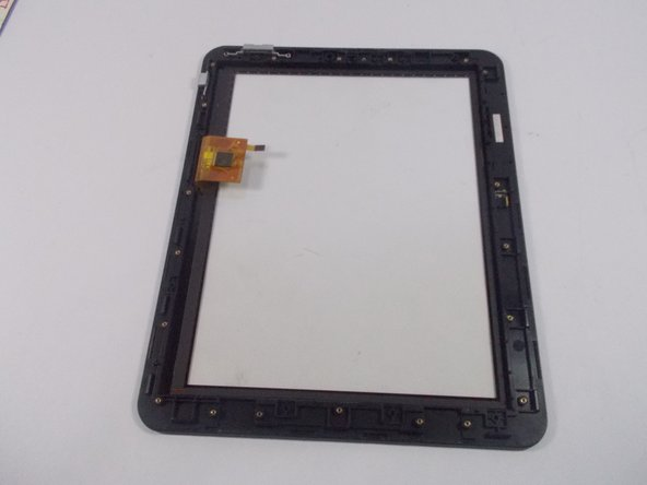 Place the metal frame plate and components into the new plastic front panel.