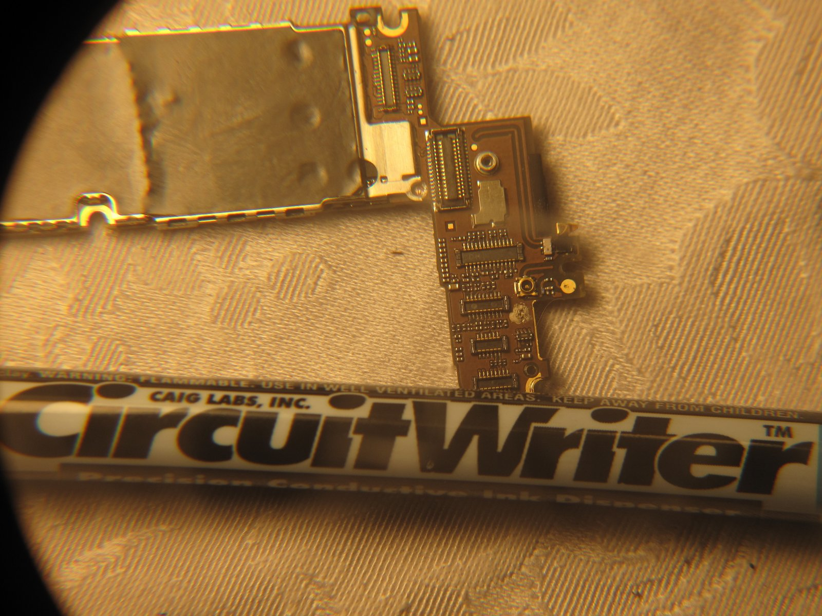 After Replacing Screen Camera App Now Stuck On Shutter Iphone 4 Have Ordered This Circuit Writer Pen Will Update Post To See If Ifixit