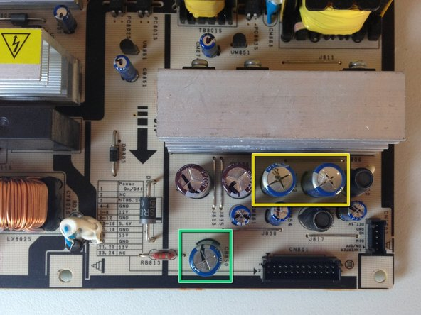 Image 1/1: On my board there were 2ea 2200uf capacitors that were bulging.