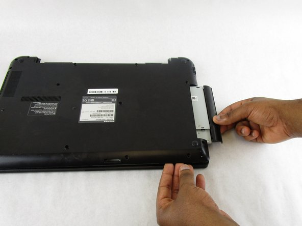 Slide the CD/DVD Drive out of the laptop.