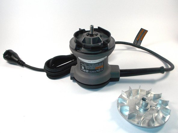 The fan can then simply be pulled from its axle and be replaced with the fan blades facing up.