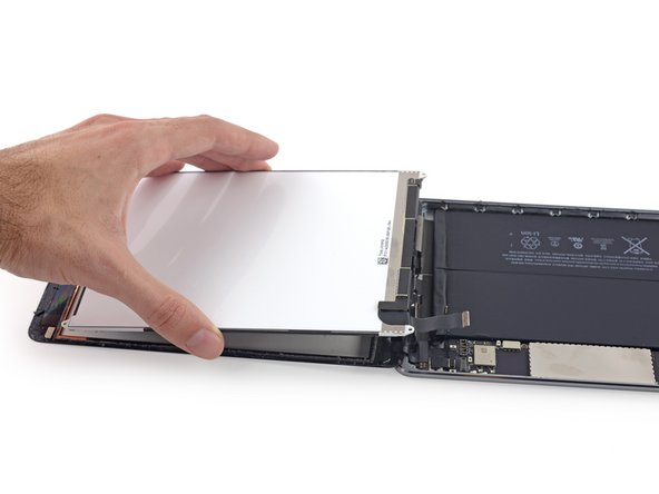Lift and remove the LCD from the iPad.