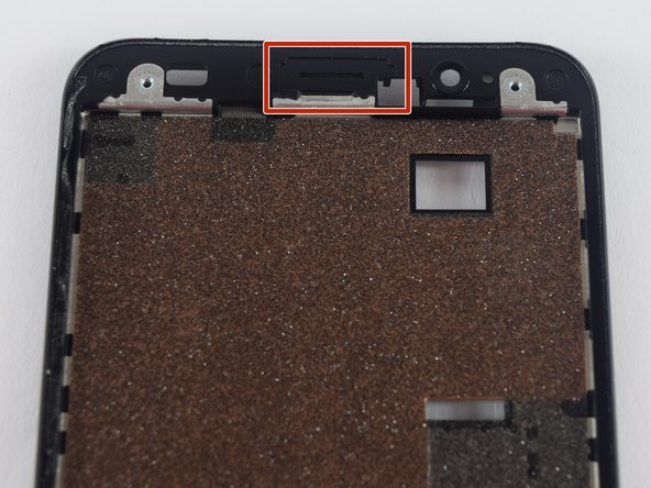Image 2/3: We recommend attaching  the speaker grill to the actual body of the phone rather than the display.