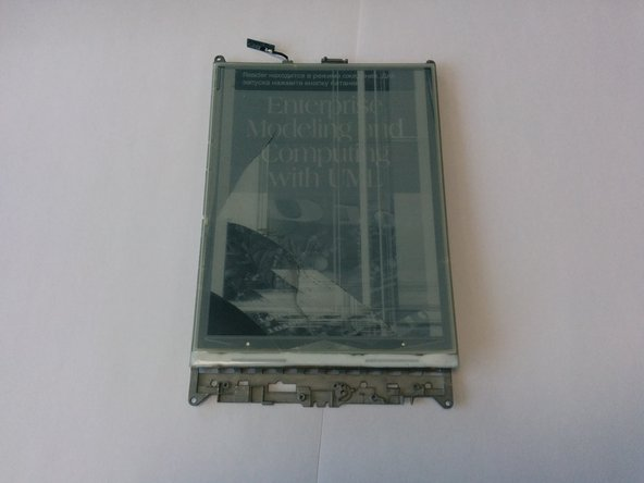 Image 3/3: Remove black frame. It's attached to the screen by double sided tape
