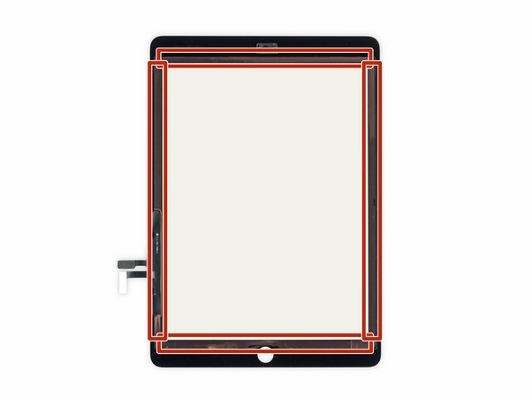 If the home button ribbon cable sticks to the iPad's rear case, don't try to force it. Gently peel it off the case using a pair of tweezers, and then you can fully remove the front panel assembly.