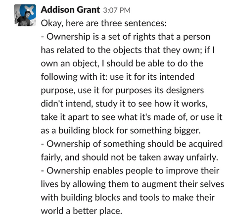Addison Grant of iFixit on what ownership means