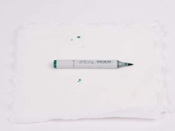 Wait 3 minutes for the color to spread through the nib until it is no longer white.