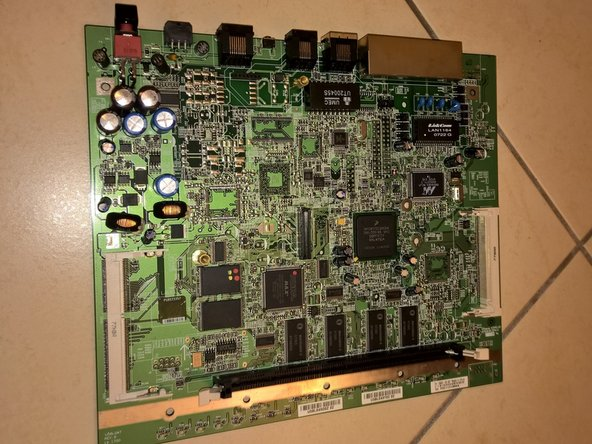 3. Remove board from the case.